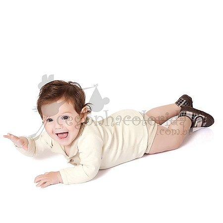 Body Bebê Menino Gola Polo Baby Car Kiko Baby