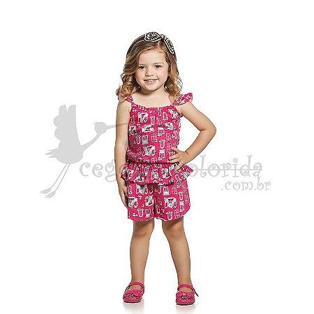 Macaquinho Curto Infantil Menina Floral