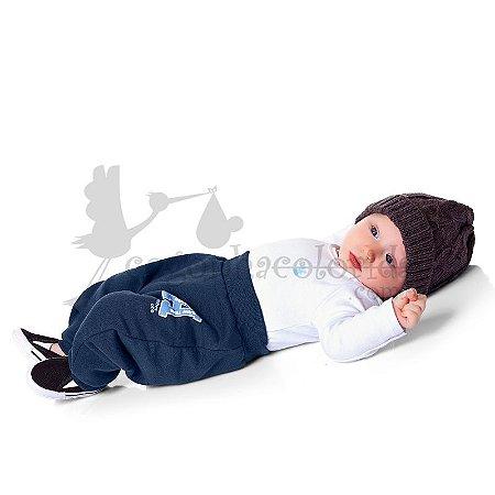 Calça Saruel Bebê Menino em Moletom Peluciado Kiko Baby