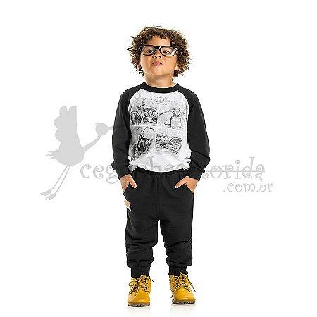 Calça Jogger Infantil Menino em Moletom Felpado Kaiani