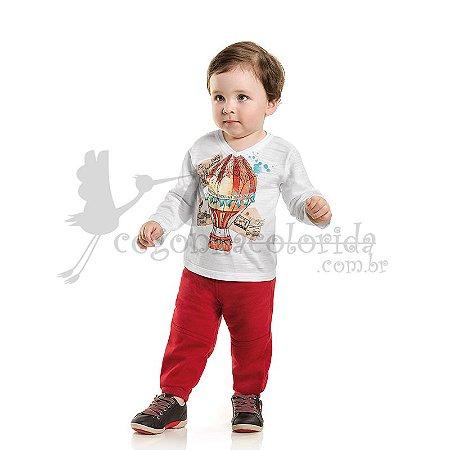 Calça Bebê-Infantil Menino em Moletom Felpado Kaiani