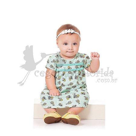 Vestido Manga Curta Bebê Menina Florzinha Kiko Baby