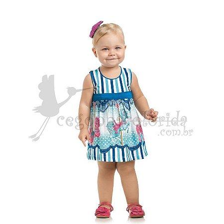 Vestido Regata Bebê Menina Carrossel
