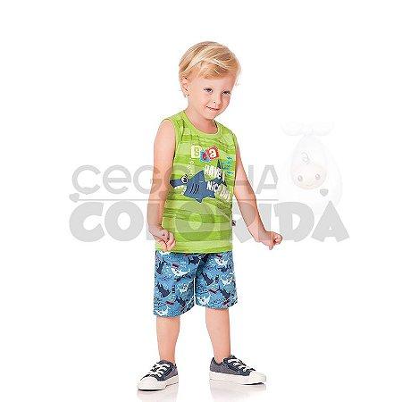 Conjunto Curto Infantil Menino Tubarãozinho Kiko & Kika