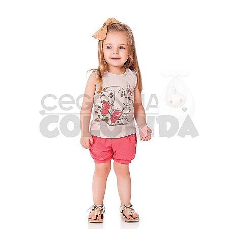 Conjunto Infantil Menina Cachorrinha de Laço Kiko & Kika