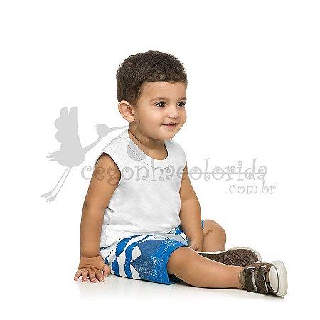 Bermuda Bebê-Infantil Menino Tubarãozinho