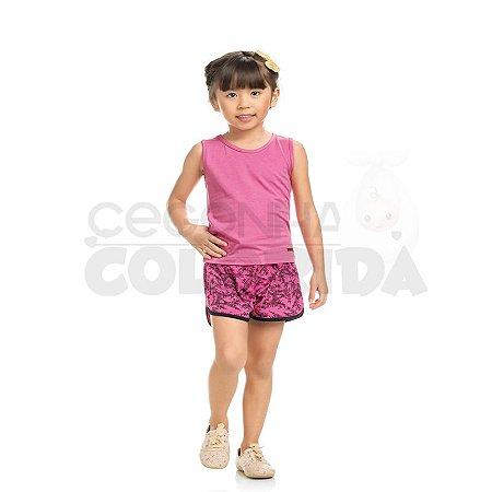 Blusinha Regata Infantil Menina Básica Lisa