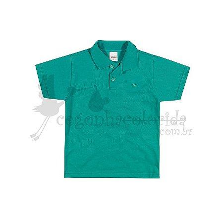 Camisa Polo Manga Curta Infantil Menino Lisa Elian