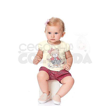 Conjunto Manga Curta Bebê Ursa Kiko Baby
