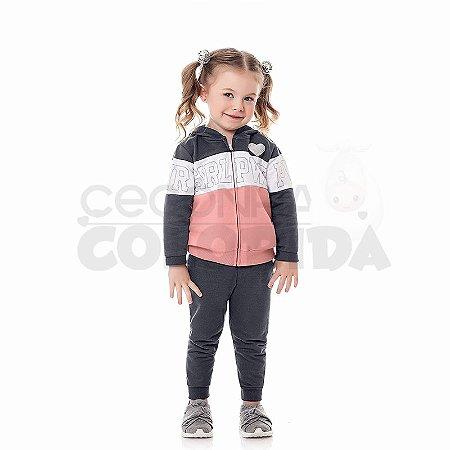 Conjunto Longo Infantil Menina Girl PWR Kiko & Kika