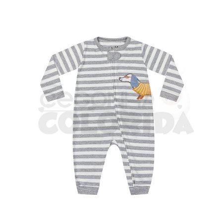 Macacão Longo Bebê Menino Listradinho Kiko Baby