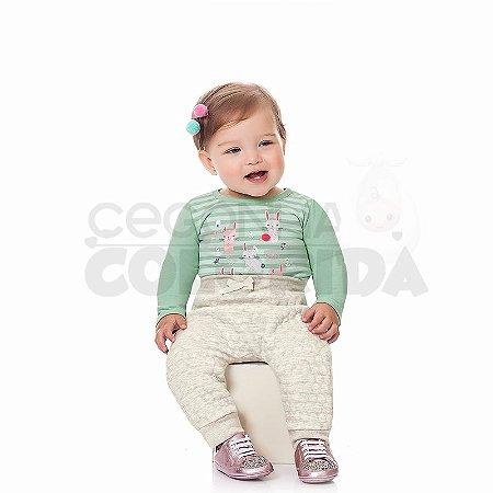 Calça Saruel Bebê Menina em Matelasse Poá Kiko Baby