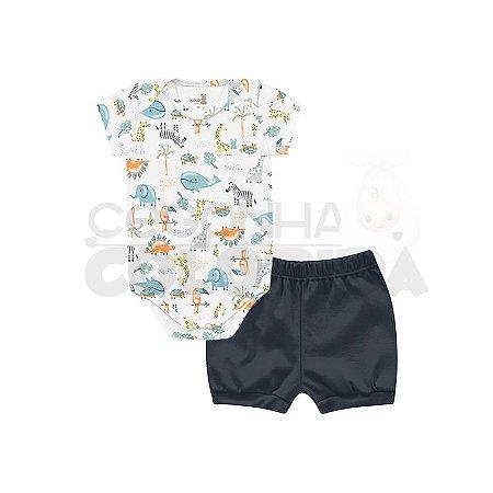 Conjunto Bebê Body Animais com Short Kiko Baby