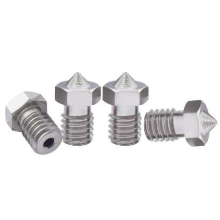 Bico Extrusora Hotend V5 / V6 1,75mm - Nozzle 0.8 mm - Inox