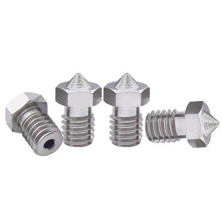 Bico Extrusora Hotend V5 / V6 1,75mm - Nozzle 0.6 mm - Inox