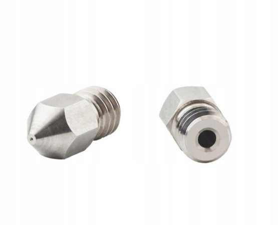 Bico Extrusora MK8 1,75mm - Nozzle 0.6 mm - Inox