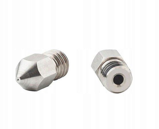 Bico Extrusora MK8 1,75mm - Nozzle 0.4 mm - Inox
