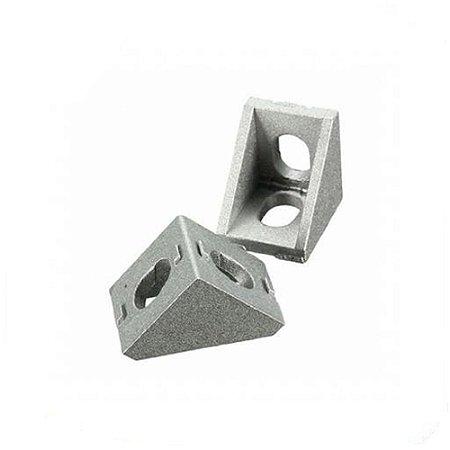 Suporte de Canto 90° em alumínio p/ Perfil de Alumínio 20X20
