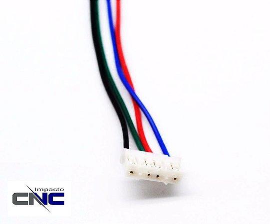 Conector 6 vias Fêmea PH2.0 p/ placa PCB PH