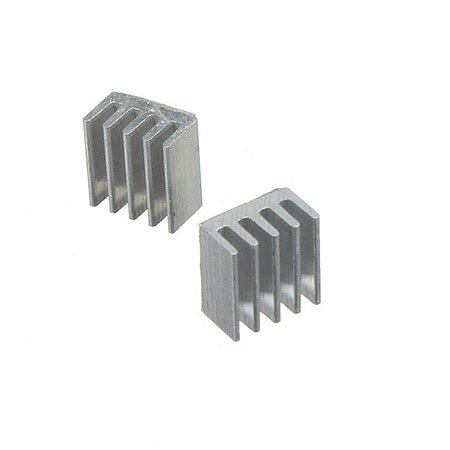 Dissipador de Calor em alumínio - 8x8