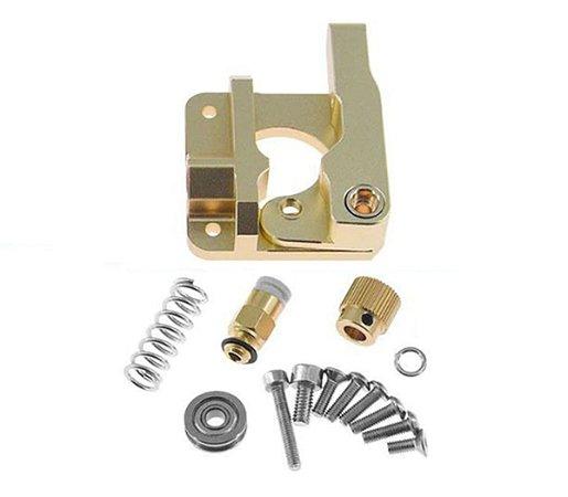 Extrusor Bowden Mk8 1.75mm Dourado - Mão Esquerda