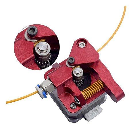 Extrusora Pro Dual Gear CR-10 1,75mm Vermelho - Mão Direita