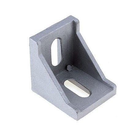 Cantoneira em alumínio 28 x 35 p/ Perfil Estrutural 3030