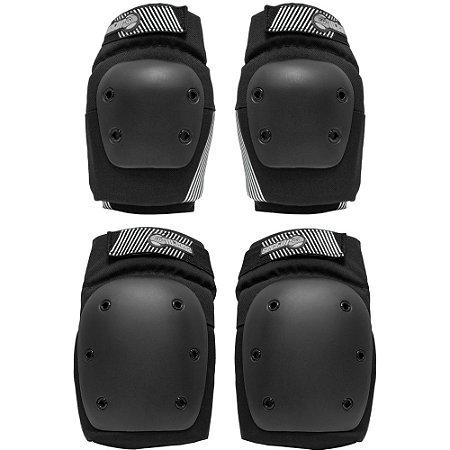 Kit de proteção sector 9 - Persuit Black - Joelheira e Cotoveleira G/GG