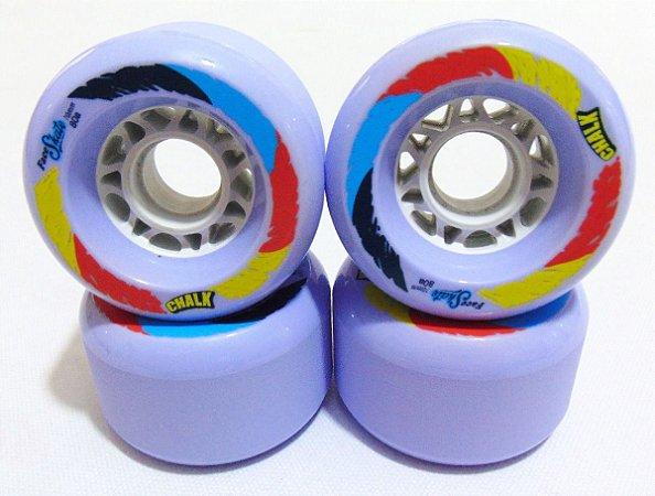 Roda Face Skate Chalk Roxa 70mm 80a
