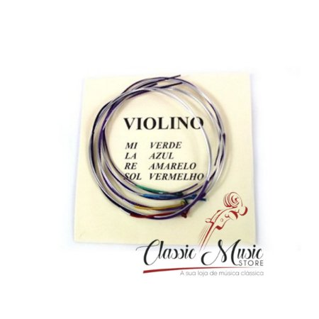 Encordoamento Para violino 4/4 3/4 1/2 Mauro Calixto
