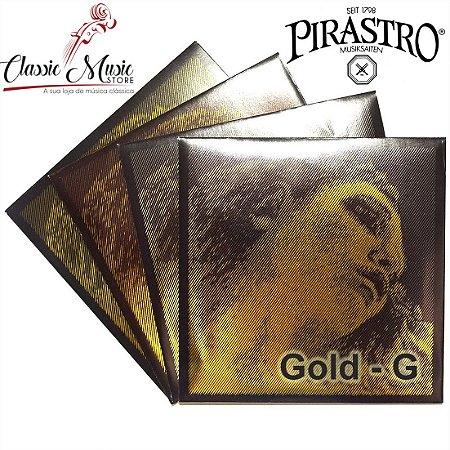 Encordoamento Para Violino Evah Pirazzi Gold