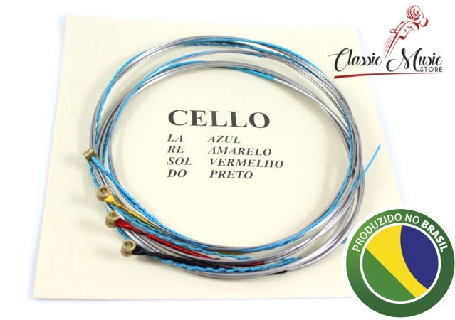 Encordoamento Para Violoncello - Cello Mauro Calixto Jogo Padrão Frete Gratis
