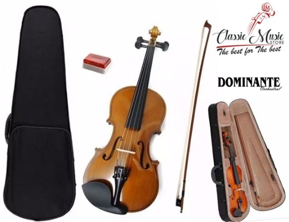 Violino Completo Com estojo  4/4 ou 3/4 Dominante Orchestral