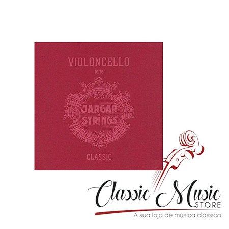 Encordoamento Cordas P/ Cello Jargar Red Forte Violoncelo