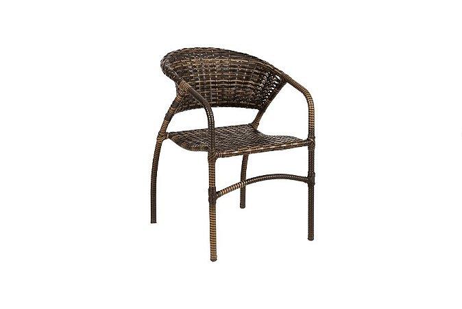 Cadeira Ana Alumínio com Fibra Sintética Argila