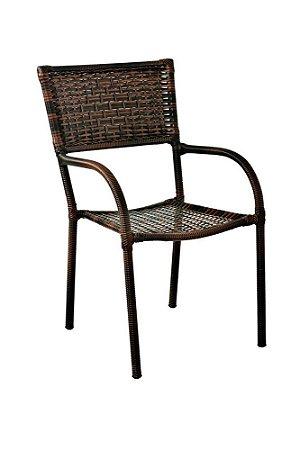 Cadeira em Aço Galvanizado Revestido e Fibra Sintética