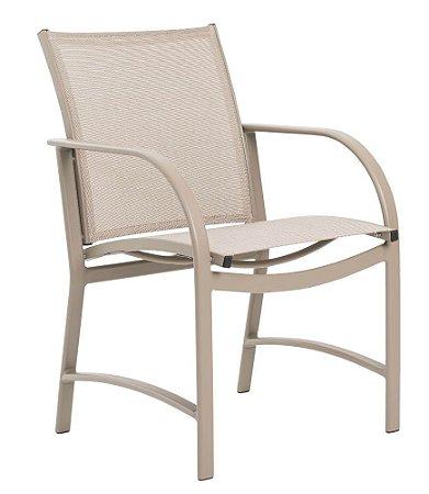 Cadeira de Alumínio Pintado Champanhe com Tela Sling ISO Bege
