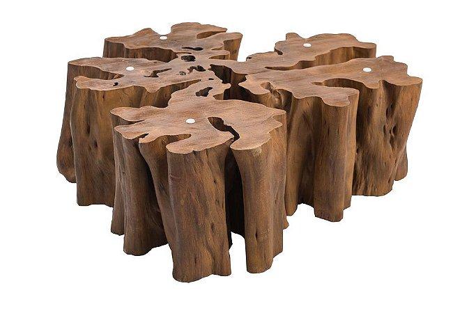 Mesa de centro Líria madeira Guarantã
