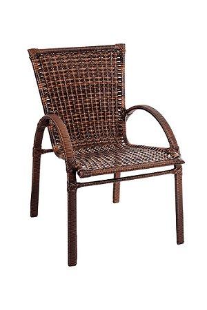 Cadeira de Fibra Sintética com Alumínio Revestido