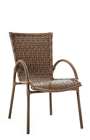Cadeira NL Aço Galvanizado com Fibra Sintética Argila