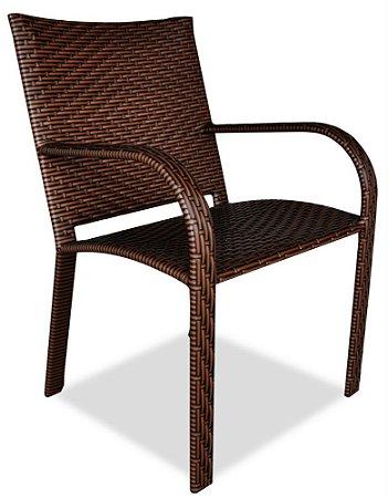 Cadeira Flamingo alumínio revestido e fibra sintética argila