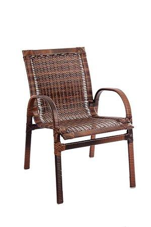 Cadeira Davos Alumínio com Fibra Sintética Argila