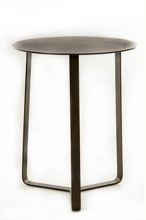 Mesa lateral 2267 toda aluminio pintado marrom fosco