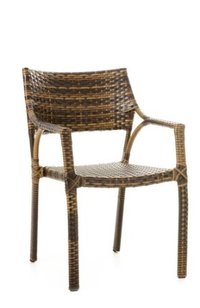 Cadeira Sandra Alumínio com Fibra Sintética Argila