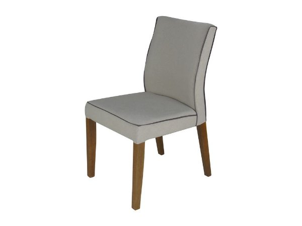Cadeira Biju madeira Jequitibá imbuia natural com assento e encosto estofados