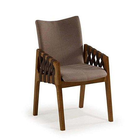 Cadeira Fina Estofada com Tiras de Courino