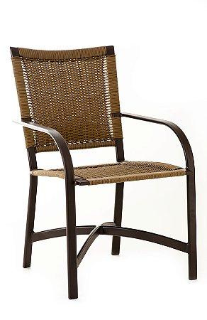 Cadeira Carol Alumínio Marrom com Fibra Sintética Mooca