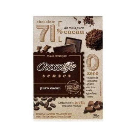 Chocolife 71% Senses Puro Cacau 25g