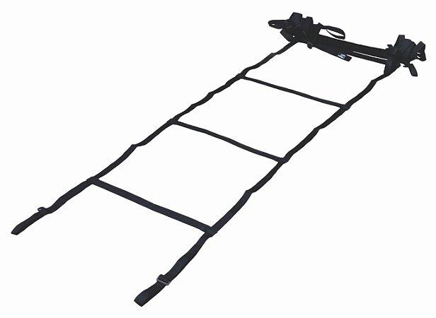 Escada de Treino c/ Degrau Fixo Preta 4mts