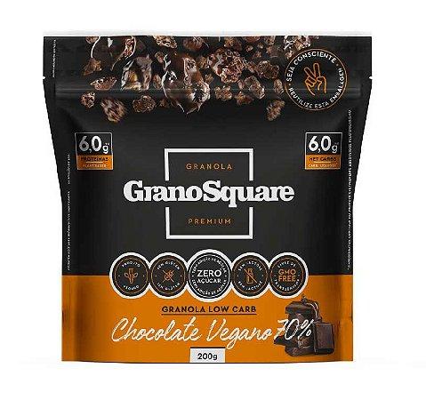 Granola Low Carb 200g Chocolate Vegano - GranoSquare